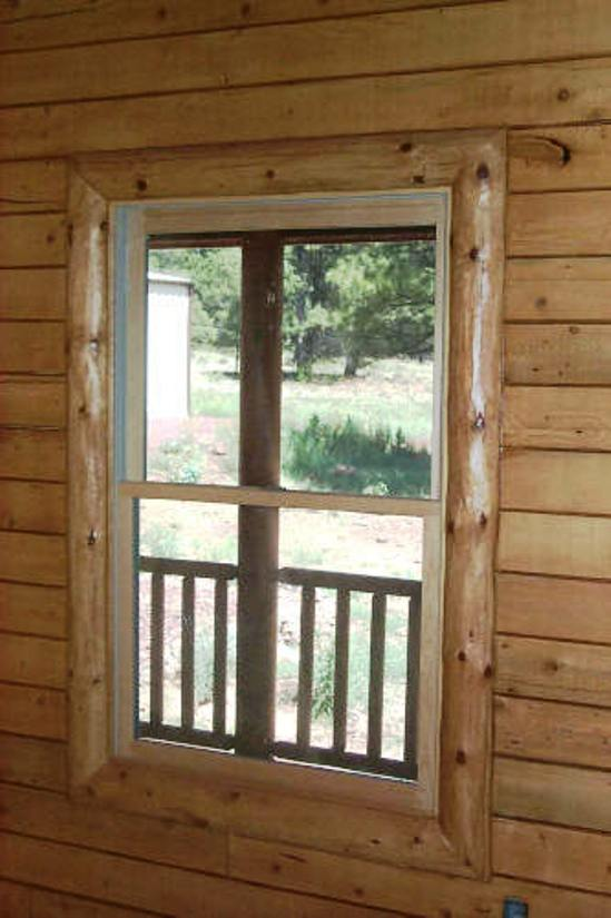 A Beautiful Log Cabin Log Railing Log Window Trim Log Door