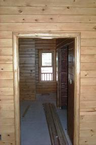 A Beautiful Log Cabin Log Railing Log Window Trim Log Door