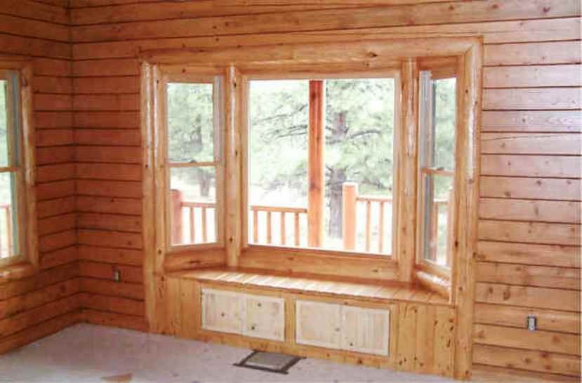 A Beautiful Log Cabin Log railing log window trim log door ...