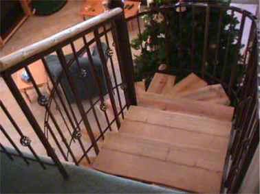 S W Wood Stairs Pine Slabs Spiral Wood Stairs Hand Peeled