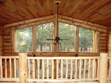 Southwest Railings Hand Peeled Railings Dry Lodge Pole