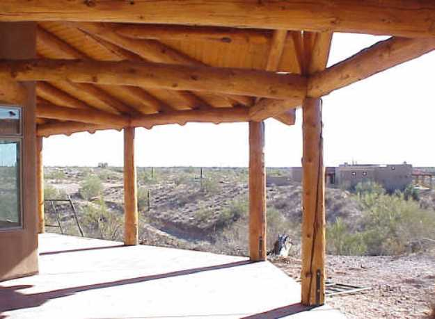 Southwest Patios Wood Pole Patio Wooden Pine Pole Patios Lodgepole