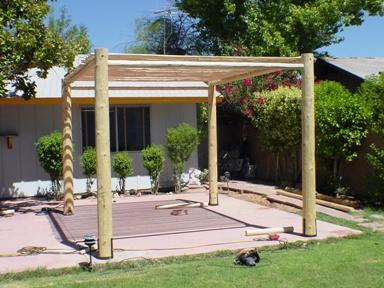D I Y Projects Lodge Pole Ramada Patio Sw Vigas Latillas